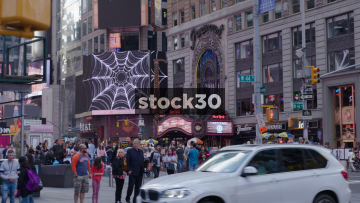 Corner Of Broadway And West 44th Street In New York City, USA