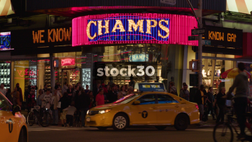 Champs Sports In Times Square, New York City, USA