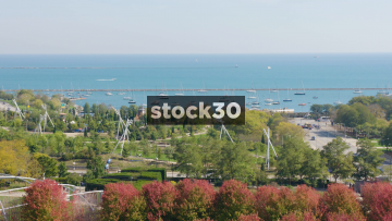 Lake Michigan And Harbour In Chicago, USA