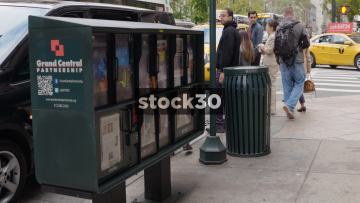 Newspaper Stand On 5th Avenue In New York, USA