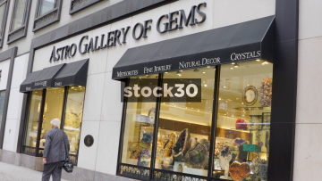 Astro Gallery Of Gems Shop In New York City, USA