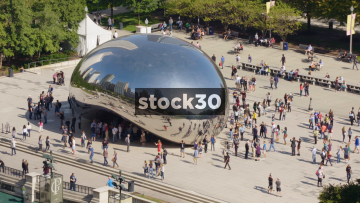 The Cloud Gate Sculpture In Chicago, USA
