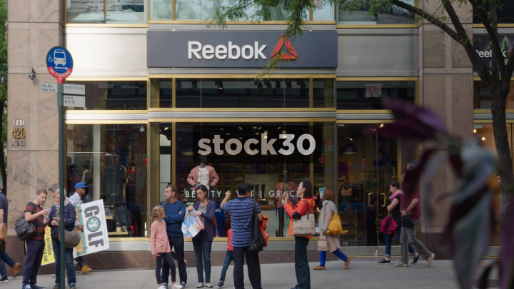 Reebok Store On 5th Avenue In New York, USA | Stock30
