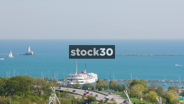 Boats On Lake Michigan In Chicago, USA