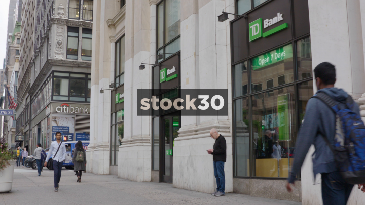 TD Bank And Citibank On 5th Avenue In New York, USA | Stock30