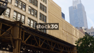 Train Passing In Chicago, USA