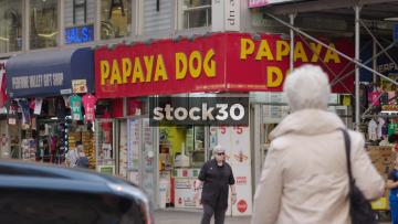 Papaya Dog Fast Food Takeaway In New York, USA