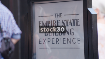 The Empire State Building Experience Entrance In New York, USA