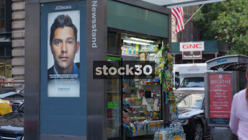 Newsstand In New York, USA