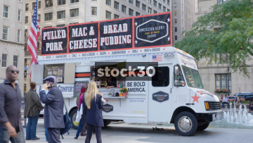 The American Glory Take Away Food Truck In Chicago, USA