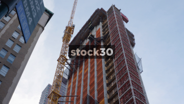 Building Under Construction In New York, USA