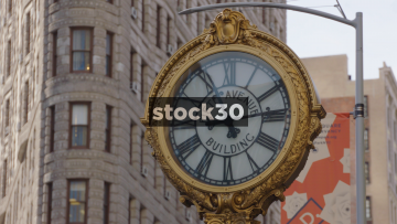 The Fifth Avenue Building Clock In New York, USA