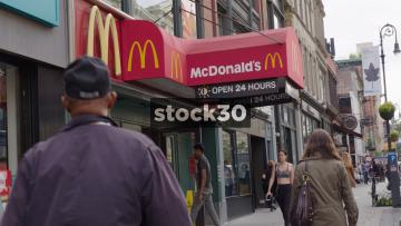 McDonald's Restaurant In New York, USA