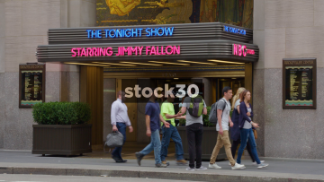 Entrance To The Tonight Show WIth Jimmy Fallon At NBC Studios, Rockefeller Center, New York, USA