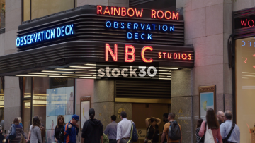 Top Of The Rock And NBC Studios Entrance At The Rockefeller Center, New York, USA