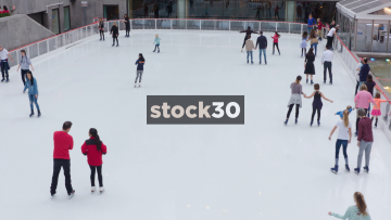 Ice Rink At The Rockefeller Center In New York, USA
