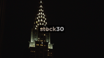 The Chrysler Building In New York, Zoom Out, USA