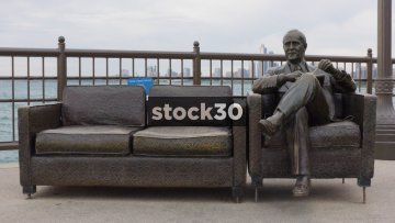 Bob Newhart Statue On Navy Pier In Chicago, USA