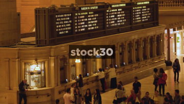 Departures Boards In Grand Central Station New York, USA