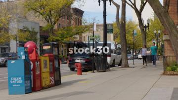 Chicago Newspaper Street Kiosk, USA