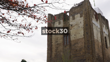 Close Up Shots Of Guildford Castle, UK