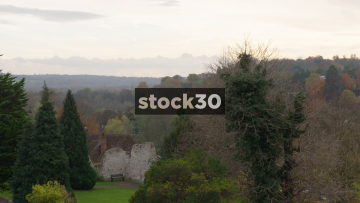 Skyline View From Guildford Castle, UK
