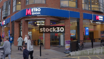 Metro Bank In Guildford Town Centre, UK