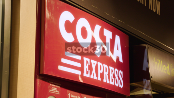 Costa Express Machine, Coffee Making Sequence, UK
