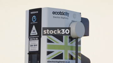 Electric Vehicle Charging Point Close Ups, UK