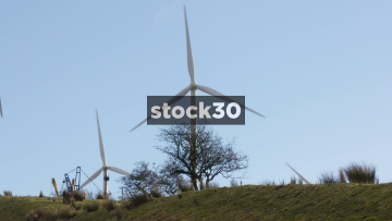 Wind Turbines In Blackburn, Close Up, UK