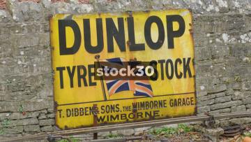 British Railways Classic Signage And Steam Train Arriving, UK