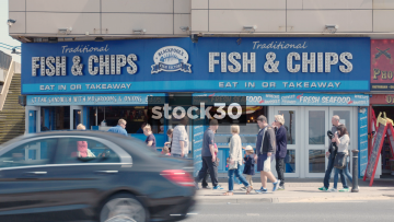 Blackpool Traditional Fish & Chips Shop, UK