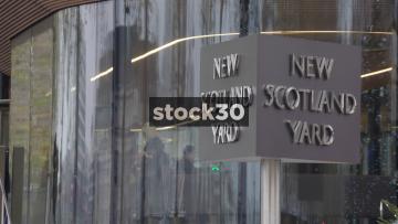 New Scotland Yard Rotating Sign, UK