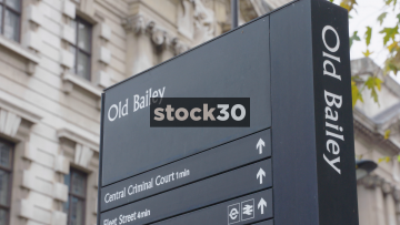 Old Bailey Directions Sign And Street Signs, UK
