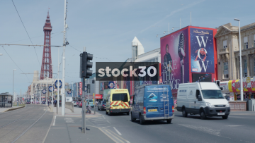 Blackpool Promenade And Tower, UK