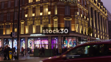 Harvey Nichols In Knightsbridge, London At Christmas, UK