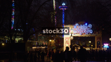 Winter Wonderland Amusement Park In London, UK