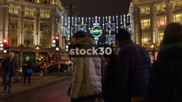 Christmas Lights On Oxford Street In London, UK