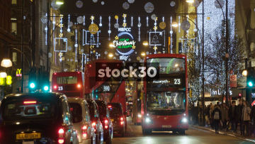 London Oxford Street At Christmas, UK