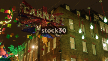 Carnaby Street Christmas Decorations And Street View, UK