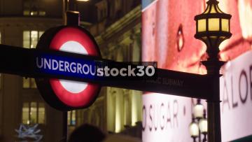 London Underground Subway Signs, UK