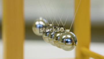 Newton's Cradle - Slow Motion Shot