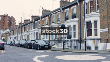 Burnaby Street And Residential Housing In Chelsea, London, UK