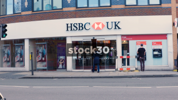 HSBC Bank On Fulham Road In London, UK