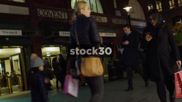 Covent Garden Underground Station In London, UK