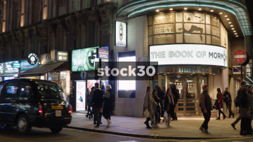 The Book Of Mormon At The Prince Of Wales Theatre On Coventry Street In London, UK