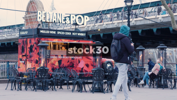 Beltane And Pop Drinks Stand By The Thames In London, UK