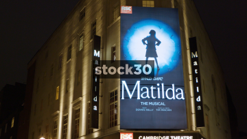 The Cambridge Theatre Showing Matilda In London, UK