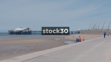 Blackpool Seafront And North Pier, UK