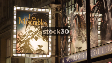Les Misérables At The Queens Theatre On Shaftesbury Avenue In London, UK